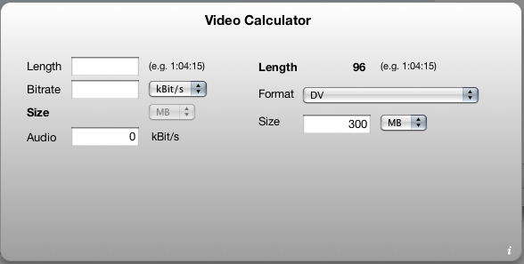 Video Calculator Widget V0.1
